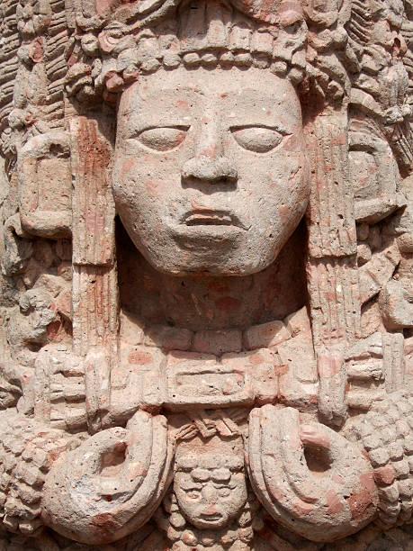 Mayan Statue stock photo