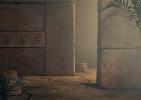 istock Mayan Temple Background Adventure 1172729975