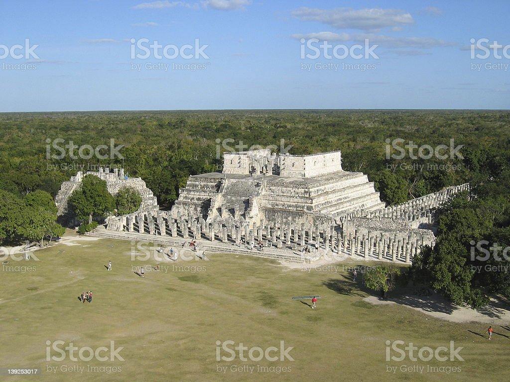 mayan temple royalty-free stock photo