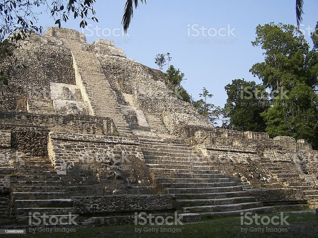 Mayan temple. stock photo