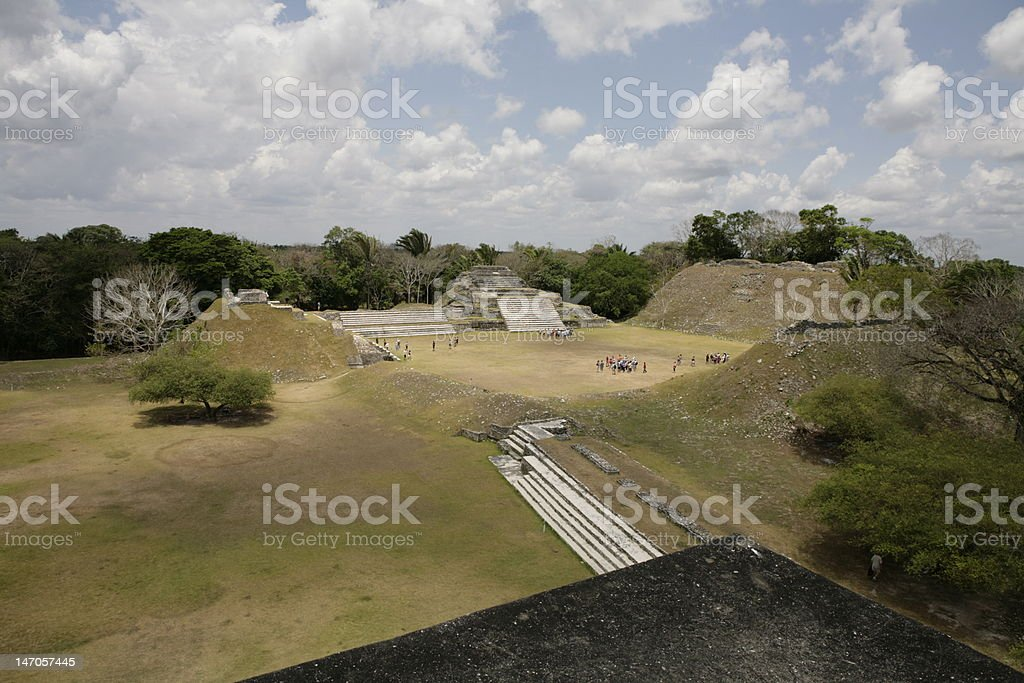Mayan Temple stock photo