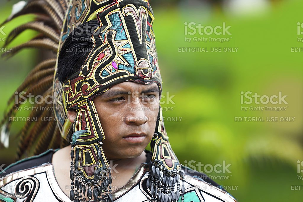 Mayan Warrior stock photo