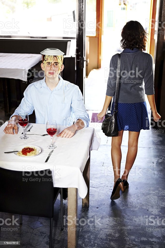 Maybe I shouldn't have said that....- Bad date royalty-free stock photo