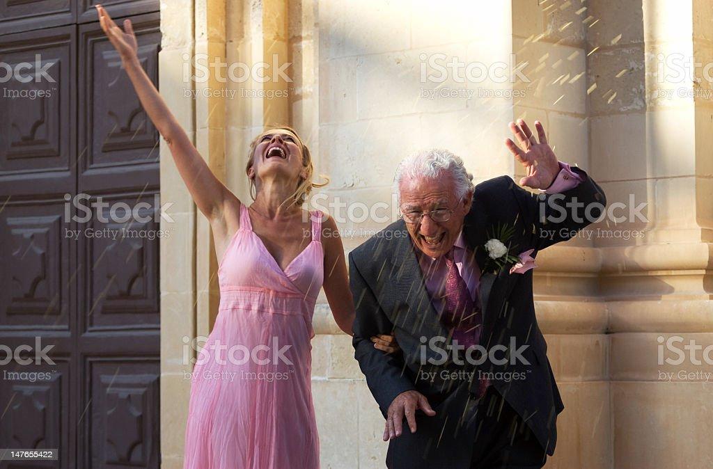 may-december wedding royalty-free stock photo