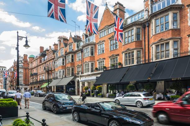 Mayfair Londres - foto de stock