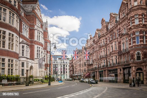 Carlos Place and Mount Street, an upmarket shopping destination in central London
