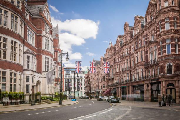 Calle comercial de Mayfair, Londres - foto de stock