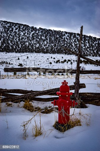 A fire hydrant in the small central Utah town of Mayfield.
