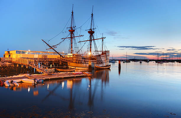 Mayflower II The Mayflower II is a replica of the 17th century ship Mayflower, celebrated for transporting the Pilgrims to the New World. The ship is docked at the State Pier in Plymouth, Massachusetts. Plymouth is known for being