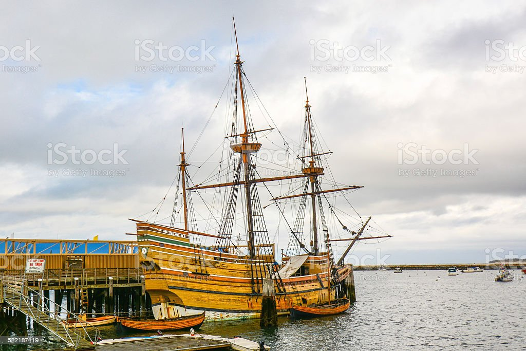 Mayflower II, Replica of Mayflower - Plymouth, MA stock photo