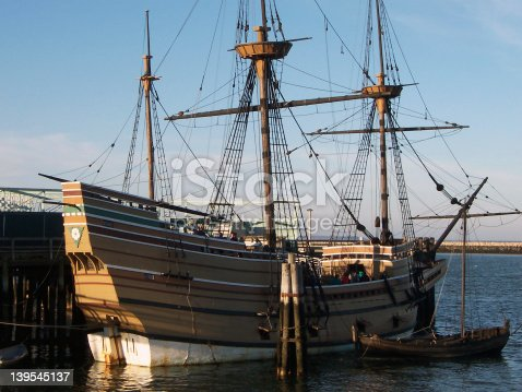 The Mayflower II replica in Plymouth, MA.