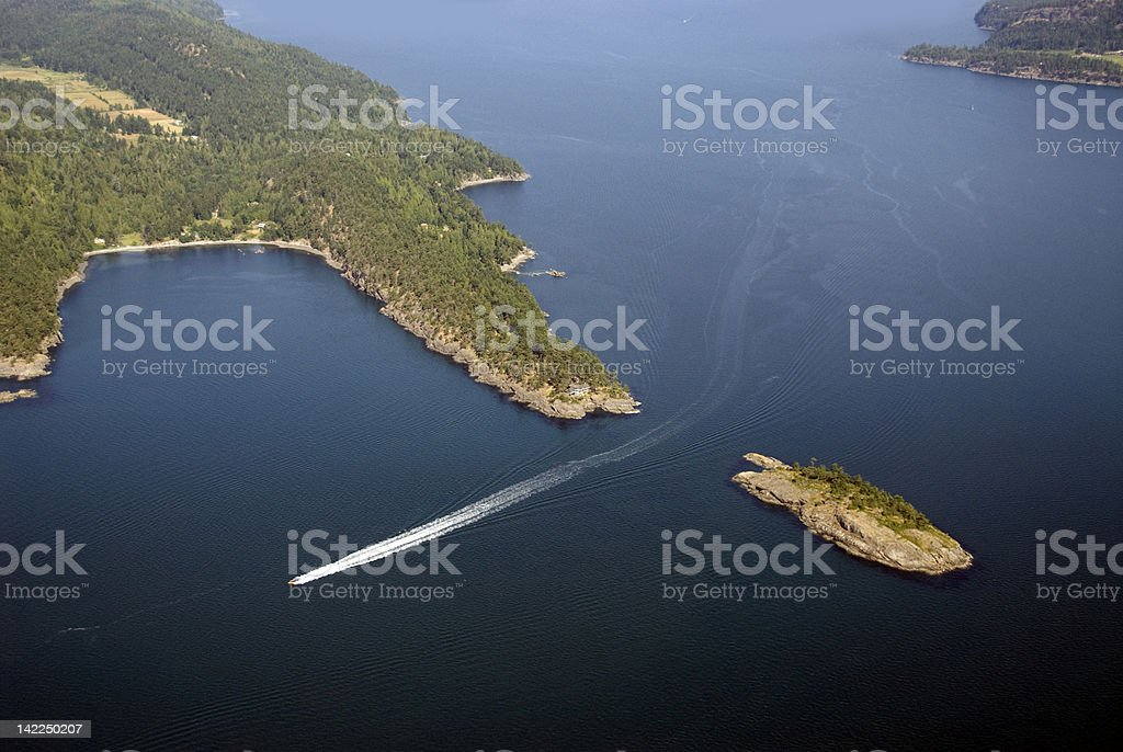 Mayne Island Columbia stock photo