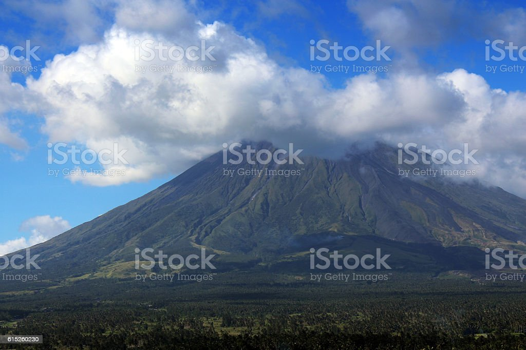 Mayon volcano in Philippines stock photo