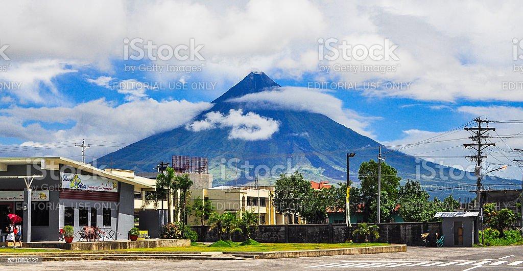 Mayon Volcano - Legaspi City, Albay, Philippines stock photo
