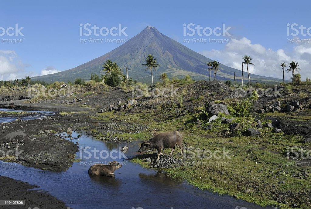 Mayon Volcano royalty-free stock photo