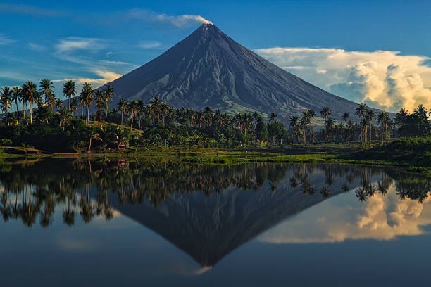 mayon volcano - philippines stock photos and pictures