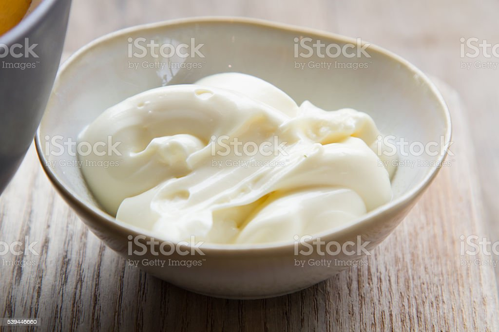 mayonnaise in bolw stock photo