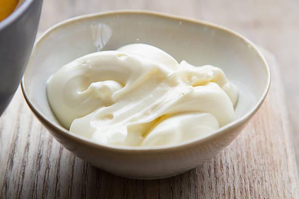 mayonnaise in bolw stock photo