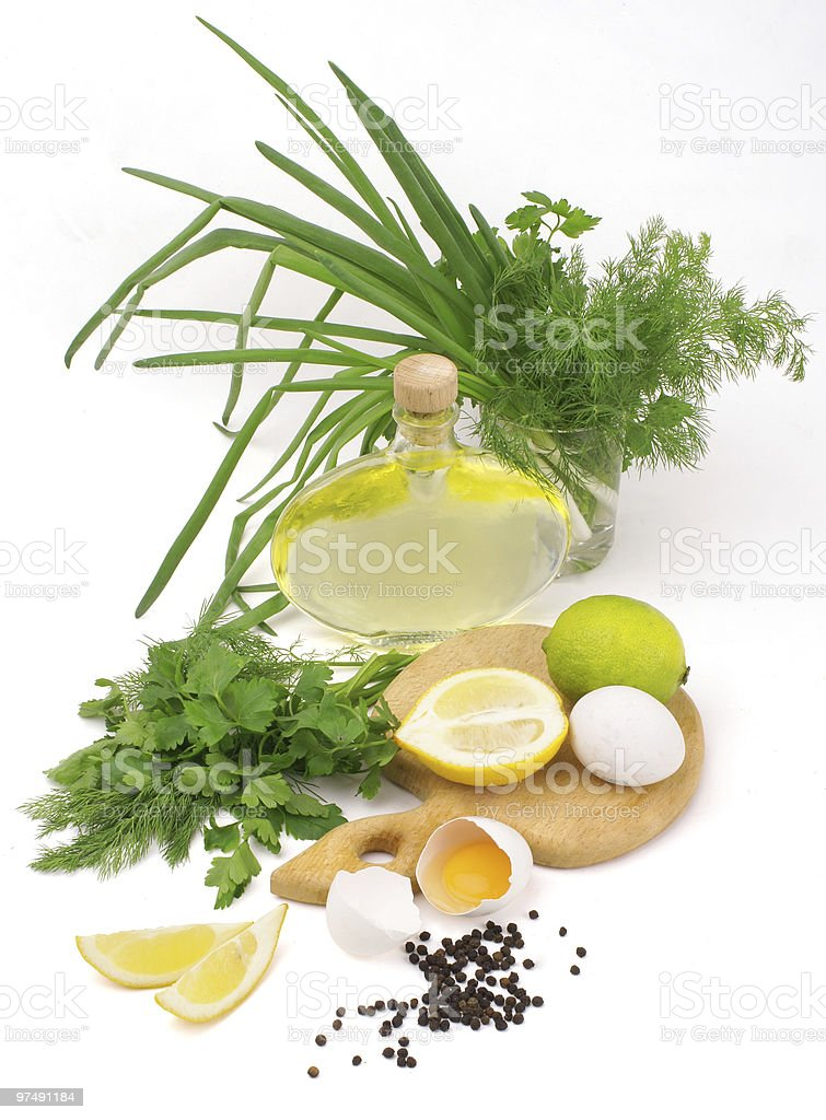 mayonnaise ingredients royalty-free stock photo