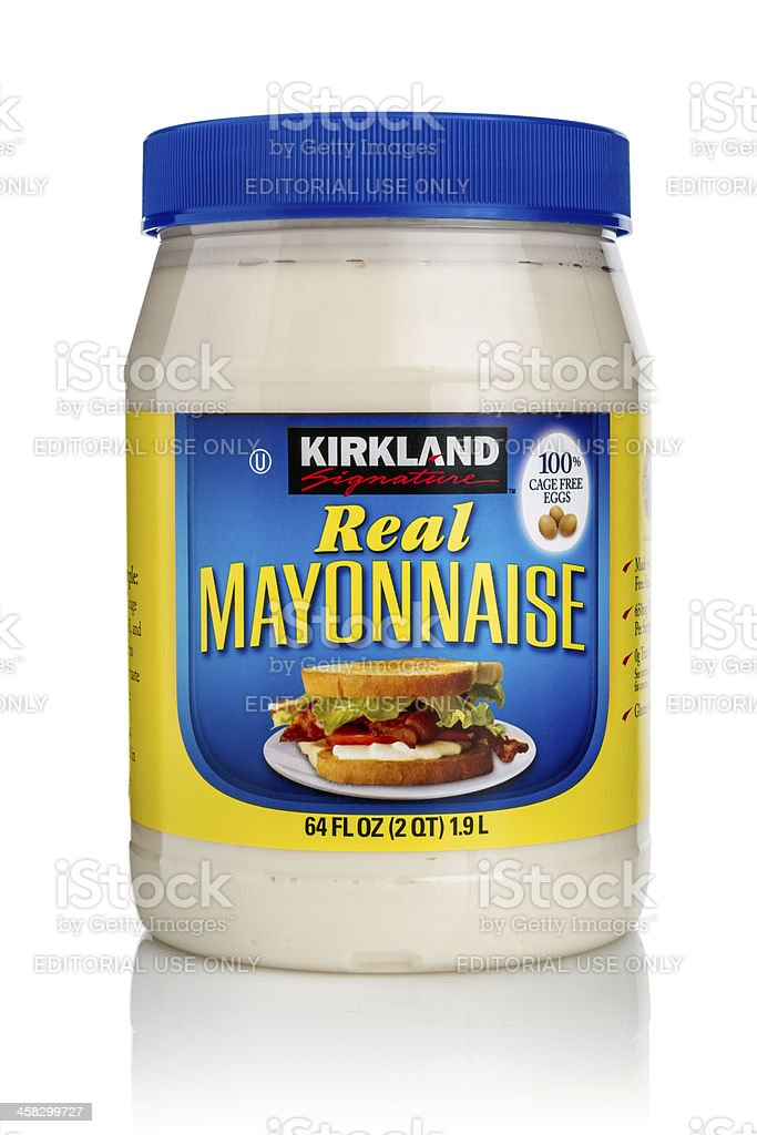 Mayonnaise Jar stock photo