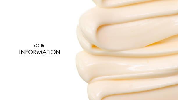 Mayonnaise macro cream pattern stock photo