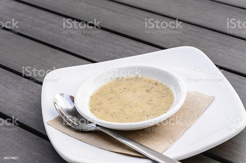 Mayonnaise sauce stock photo