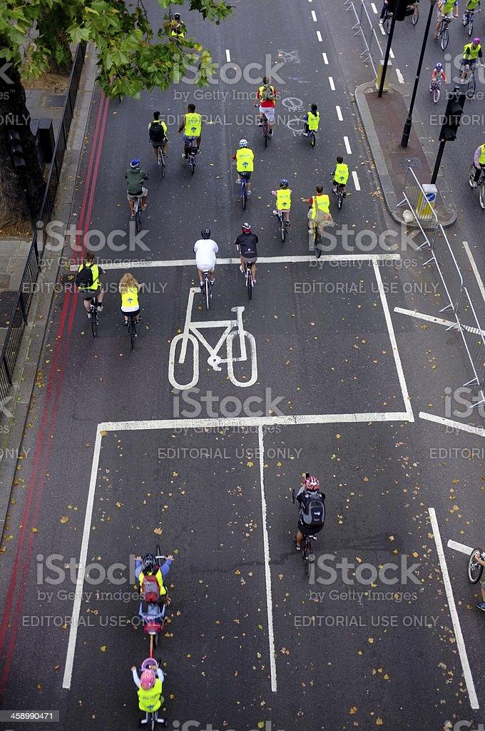 Mayor of London's Sky Ride stock photo