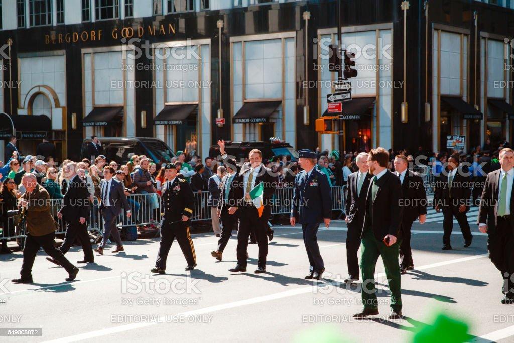 mayor of New York Bill de Blasio stock photo