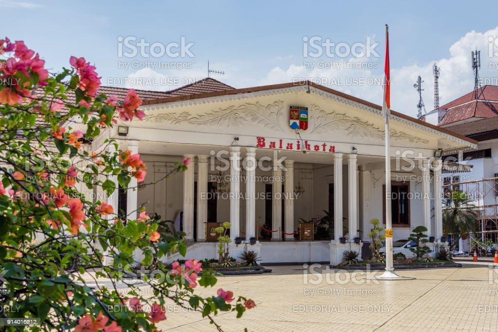 Mayor Office  Balaikota in Bogor, West Java, Indonesia. stock photo
