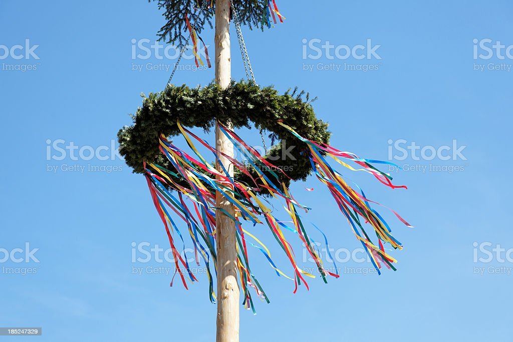 maypole against blue sky royalty-free stock photo