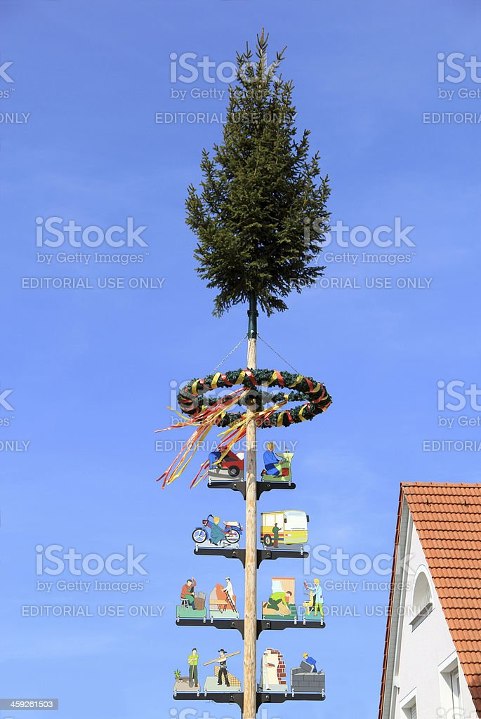 Maypole royalty-free stock photo