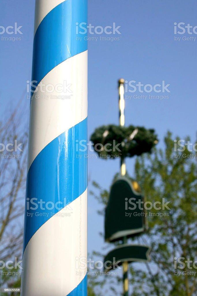 Maypoles in Bavaria, Germany royalty-free stock photo
