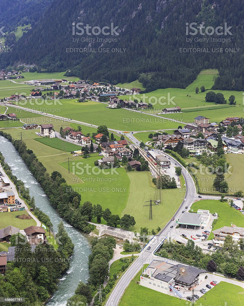 Mayrhofen railroad station royalty-free stock photo