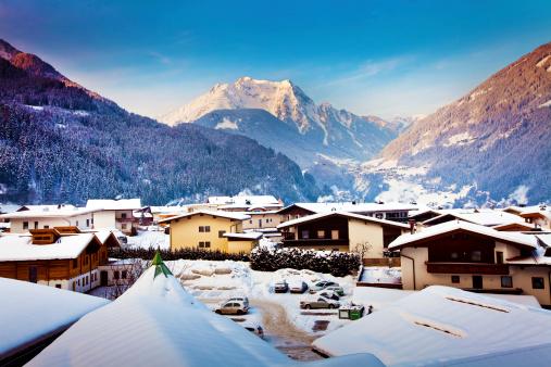 Mayrhofen winter resort in Austria