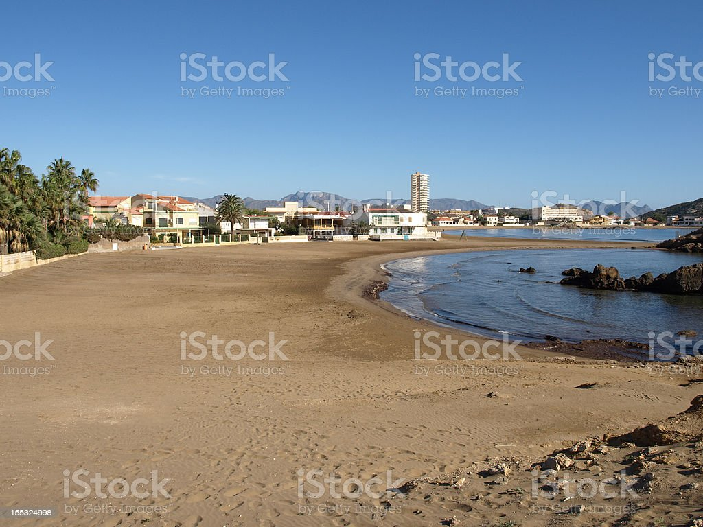 Mazarron beach, Spain stock photo