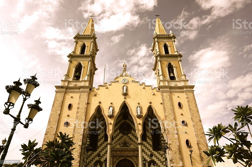 Mazatlan Cathedral stock photo