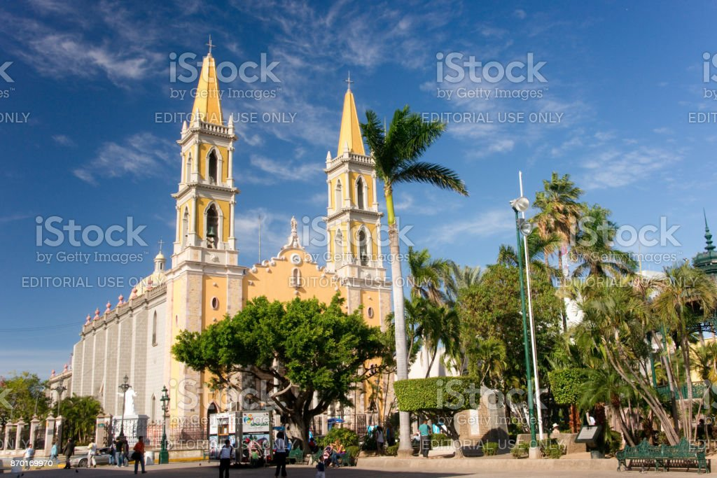 Mazatlan Cathedral stock photo
