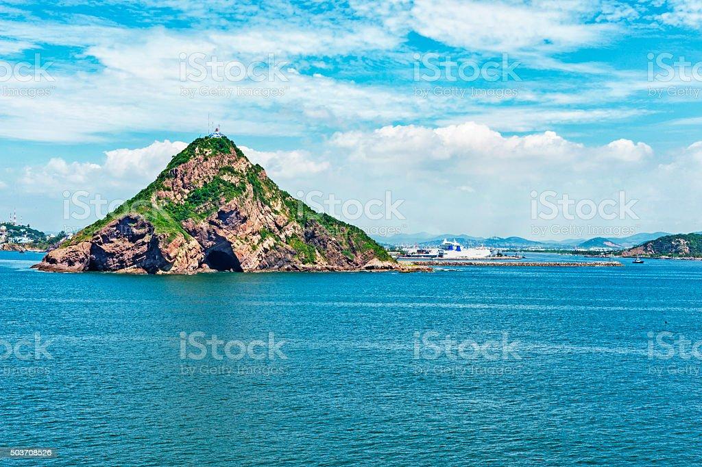 Mazatlan Harbor and Lighthouse Views stock photo