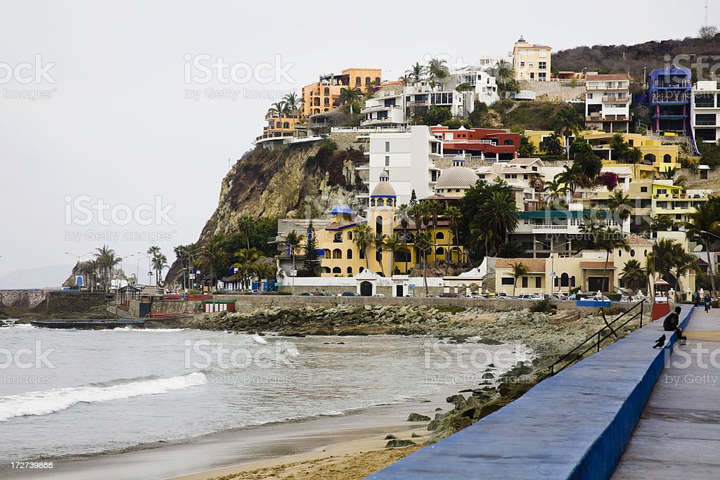 Mazatlan, Hill between Old Town and the newer Zona Dorada stock photo