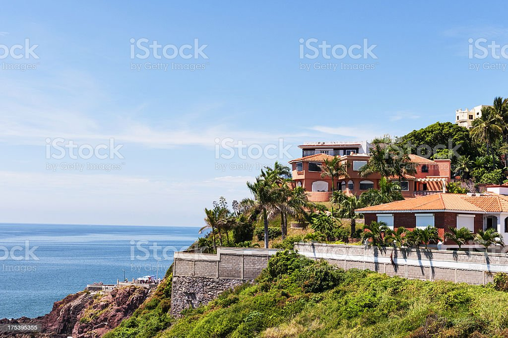 Mazatlan Homes on a Hill stock photo
