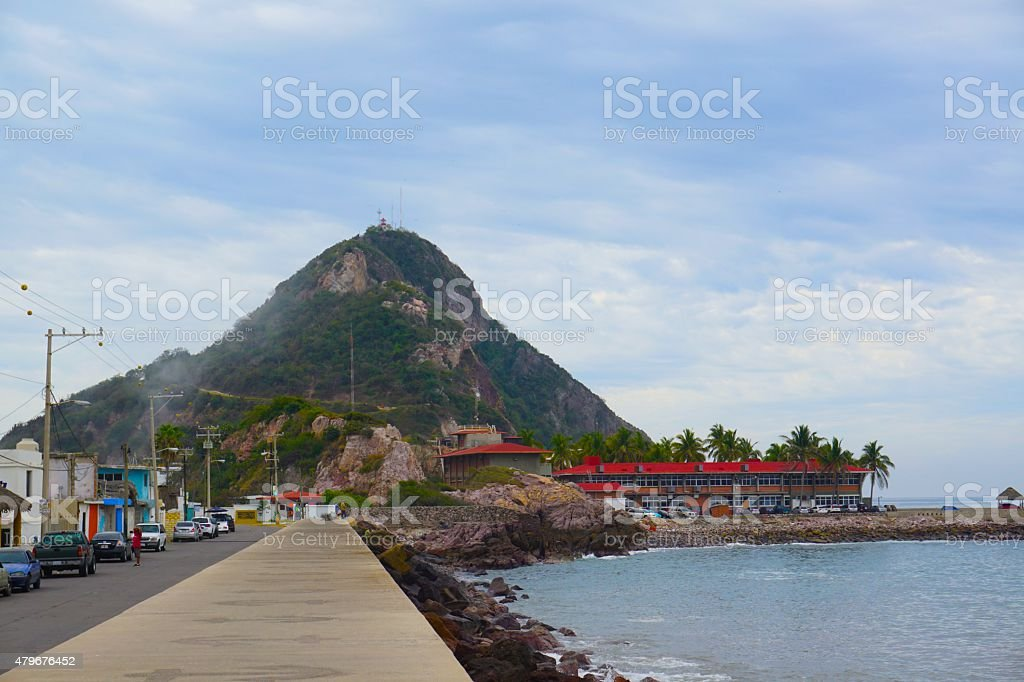 Mazatlan Lighthouse stock photo