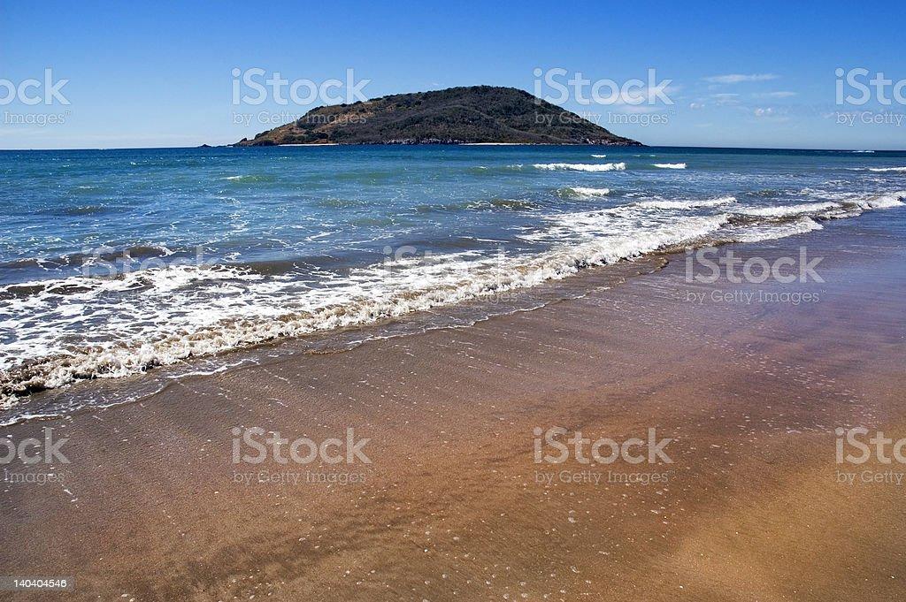 Mazatlan Mexico Beach, Ocean and Island stock photo