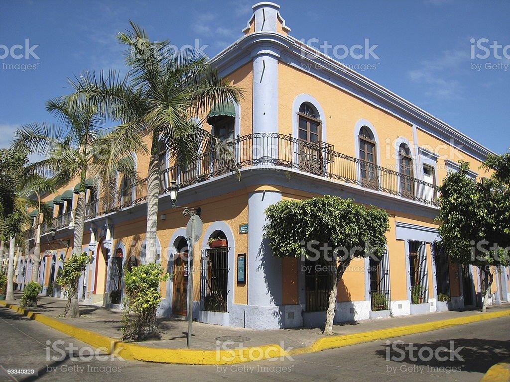 Mazatlan Mexico Colorful Building stock photo