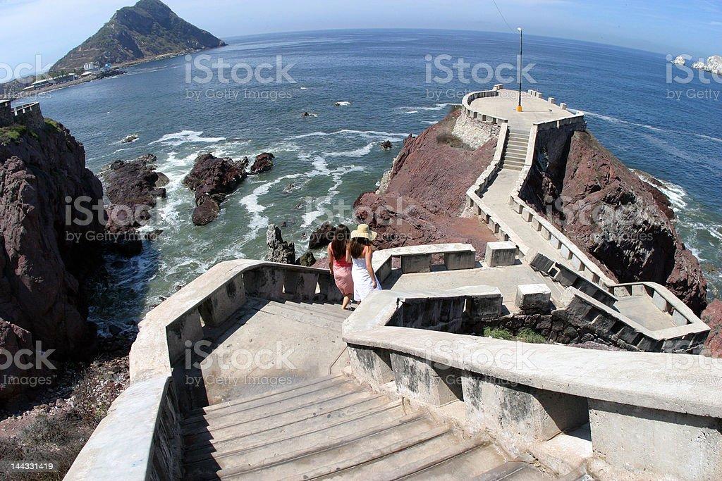 mazatlan ocean lookout stock photo