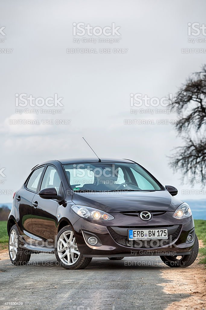 Mazda 2 Typ DE royalty-free stock photo