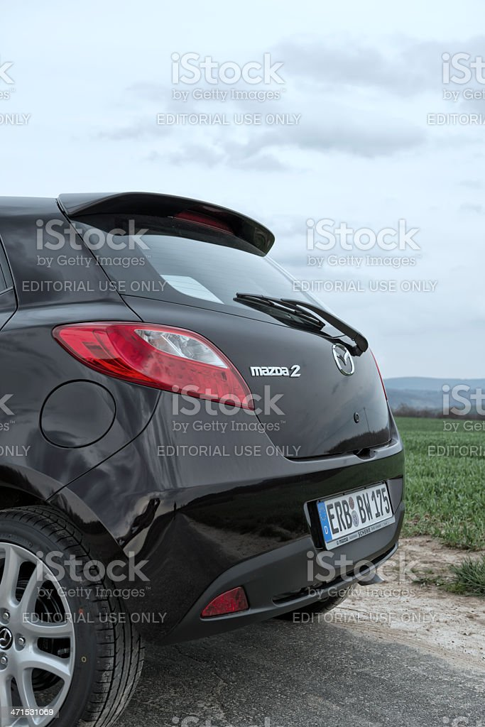 Mazda 2 Typ DE royalty-free stock photo