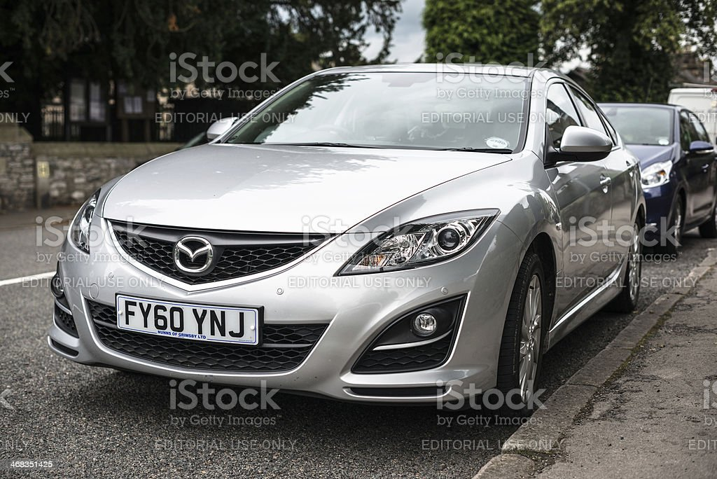 Mazda 6 front view royalty-free stock photo