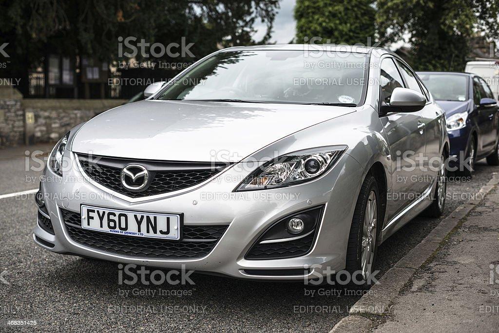 Mazda 6 front view stock photo