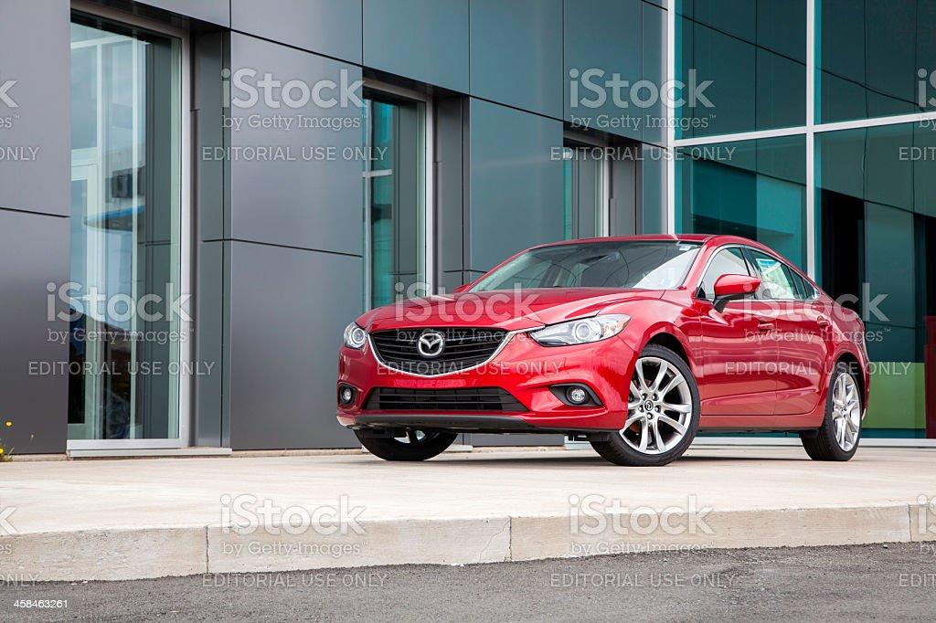 Mazda 6 in Front of Dealership stock photo