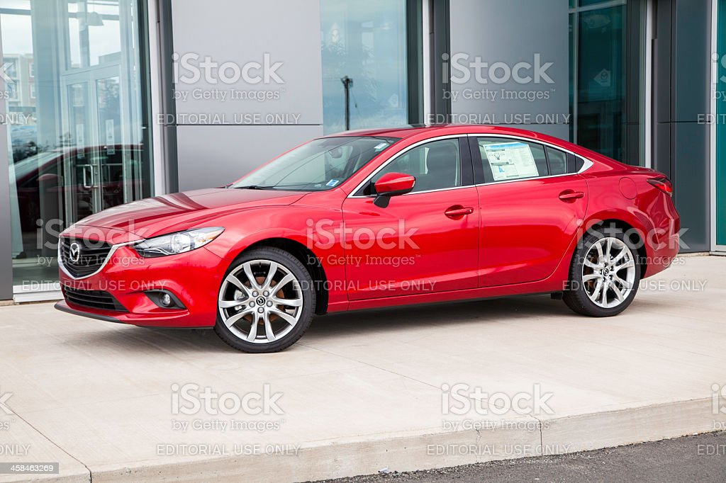 Mazda 6 in Front of Dealership royalty-free stock photo